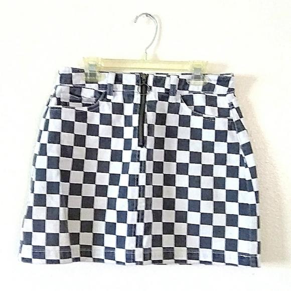 BDG Dresses & Skirts - BDG B&W Checkered Mini Skirt